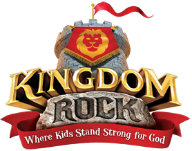 Kingdom Rock Vacation Bible School Logo